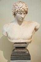 Antinous Bust, Statue, Athens, Greece Fine-Art Print