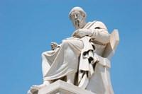 Aristotle statue, Greek Philosopher, Athens, Greece Fine-Art Print