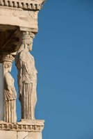 Greece, Athens, Acropolis The Carved maiden columns of the Erectheum Fine-Art Print