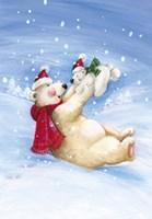 Polar Bears In Christmas Snow Fine-Art Print