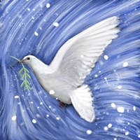 Dove In The Winter Wind Fine-Art Print