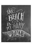 The Beach Is My Happy Place Fine-Art Print