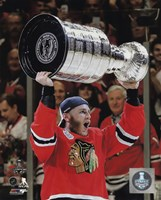Patrick Kane with the Stanley Cup Game 6 of the 2015 Stanley Cup Finals Fine-Art Print