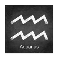 Aquarius - Black Fine-Art Print