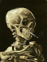 Skull with Burning Cigarette Fine-Art Print