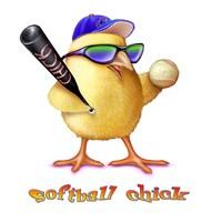 Softball Chick Fine-Art Print
