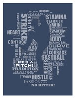 Baseball Words Fine-Art Print