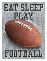 Eat Sleep Play Football Fine-Art Print