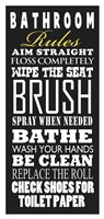 Bathroom Rules Fine-Art Print