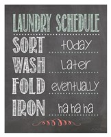 Laundry Schedule Fine-Art Print