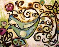 Blue Bird Duo Fine-Art Print