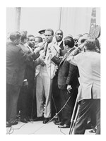 Malcolm X Being Interviewed by Reoporters Fine-Art Print
