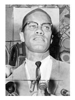 Malcolm X at Microphones Fine-Art Print