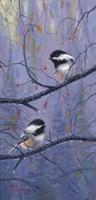 Pair of Chickadees Fine-Art Print