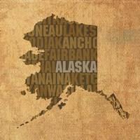 Alaska State Words Fine-Art Print