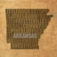 Arkansas State Words Fine-Art Print
