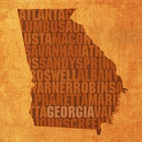 Georgia State Words Fine-Art Print