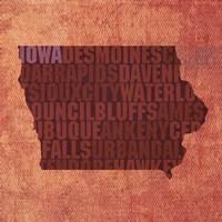Iowa State Words Fine-Art Print