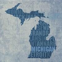 Michigan State Words Fine-Art Print
