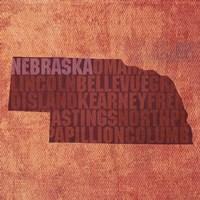 Nebraska State Words Fine-Art Print