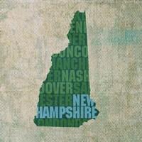 New Hampshire State Words Fine-Art Print