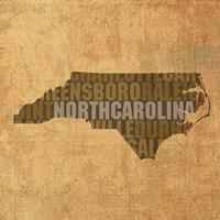 North Carolina State Words Fine-Art Print