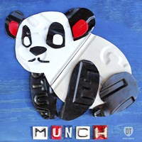 Munch The Panda License Plate Art Fine-Art Print