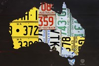 Australia License Plate Map Fine-Art Print
