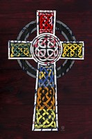 License Plate Art Celtic Cross Fine-Art Print