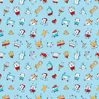 Little Robots Pattern Fine-Art Print