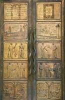Vilnius University Gate Decorated with Bronze Carving, Vilnius, Lithuania Fine-Art Print