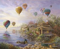Air Balloons Over Cottageville Fine-Art Print