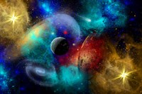 Galaxy  featuring planets, galaxies and Nebulae Fine-Art Print