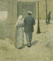 Couple In The Street, 1887 Fine-Art Print