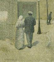 Couple In The Street, 1887 Fine-Art Print