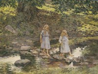 Stepping Stones, 1893 Fine-Art Print