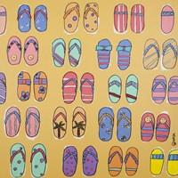 Flip Flops - Yellow Fine-Art Print
