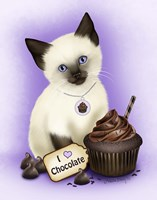 Chocolate Cupcake Kitten Fine-Art Print