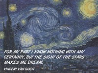 Sight of the Stars - Van Gogh Quote Fine-Art Print