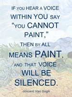 If You Hear a Voice - Van Gogh Quote Fine-Art Print