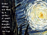 Great Things - Van Gogh Quote 1 Fine-Art Print
