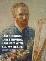 Seeking -Van Gogh Quote Fine-Art Print