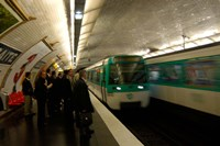 Commuters Inside Metro Station, Paris, France Fine-Art Print