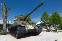 US Sherman tank, Airborne Museum Fine-Art Print