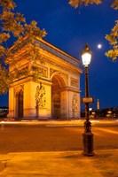 Twilight at Arch de Triomphe, France Fine-Art Print