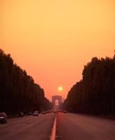 Arc de Triomphe at Sunset, Paris, France Fine-Art Print