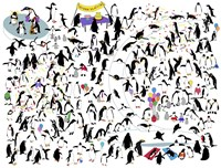 Party Penguins Fine-Art Print