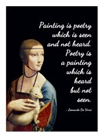 Painting is Poetry - Da Vinci Quote 1 Fine-Art Print