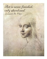 Art is Never Finished -Da Vinci Quote Fine-Art Print