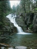 Glacier National Park Waterfall 8 Fine-Art Print